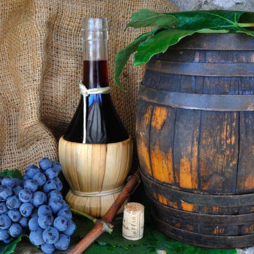 Fiaschi e impagliati vino e olio